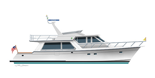 Offshore 54 Pilothouse