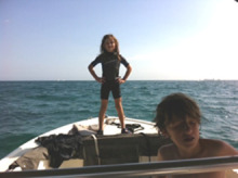 Image 0115: kids on boat